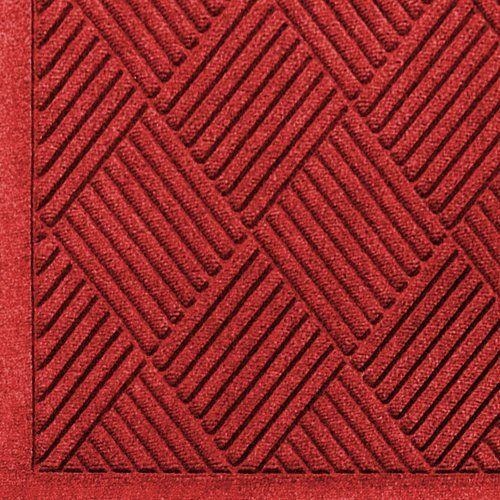 """Andersen 221 Solid Red Polypropylene WaterHog Fashion Diamond Entrance Mat, 8.4' Length x 3' Width, For Indoor/Outdoor by Andersen. $123.92. No other mat in the industry traps water and dirt so effectively. WaterHog mats are constructed of rubber reinforced face nubs and the """"diamond"""" design provides crush proof scraping action. The border for WaterHog Fashion features the same 100 percent polypropylene fiber system as the mat surface. Premium 24 oz/sq anti-static Polypropylene f..."""