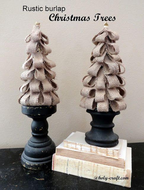 Holy Craft: Rustic Burlap Christmas trees
