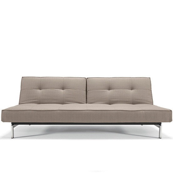 Innovation Splitback Sofa  Design: Per Weiss   Manufactured by Innovation  Dimensions (in):  31 h | 35-45 d | 80 w     This sofa is a modern and innovative, yet classic piece. The backrest splits in two individually adjustable parts with 3 positions: Sit, relax and bed. Quickly, this sofa can be turned into a well-padded bed making it perfect for the beach house or the guest room.