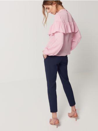 Mohito - Eleganckie spodnie cygaretki   Wzrost modelki 180 cm Modelka ze zdjęcia ma na sobie rozmiar: 36