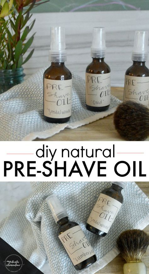 DIY Natural Pre-Shave Oil Recipe that helps prevent ingrown hairs, shaving rash or irritation, and soothes and nourishes the skin.