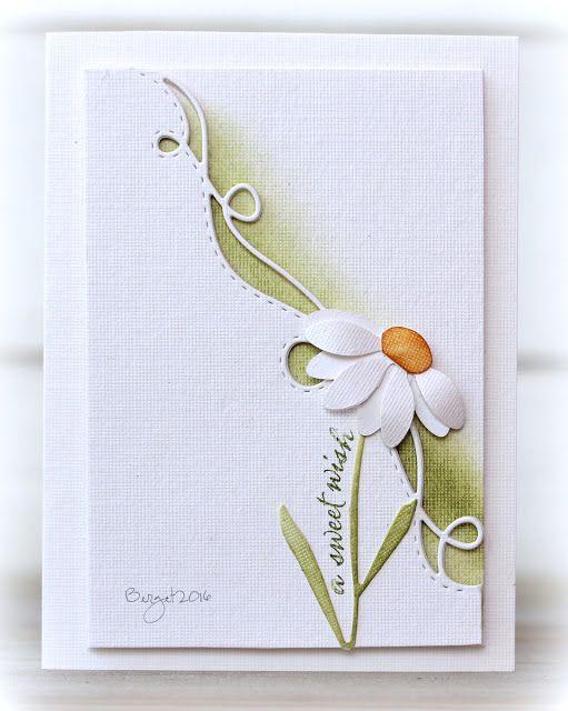 sweet daisy card by Birgit