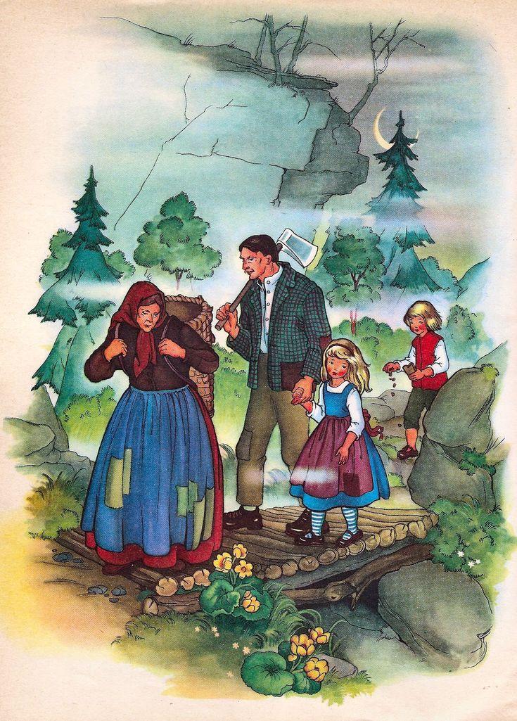 Иллюстрации к произведениям братьев гримм рисунки