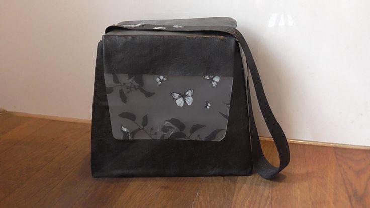 How to make a rigid handbag with synthetic leather, lining, Velcro, glue, hot glue gun, ribbon, cardboard packaging and paper case. Πως φτιάχνω μια άκαμπτη τσάντα με δερματίνη, φόδρα, βέλκρο, κόλλα, πιστόλι ζεστής σιλικόνης, χαρτόνι από κουτιά συσκευασίας και ένα χαρτοφύλακα.