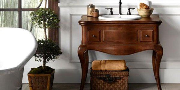 Antique Style Bathroom Vanities (PHOTOS) – Victoriana Magazine #tv #for #bathroom http://bathroom.remmont.com/antique-style-bathroom-vanities-photos-victoriana-magazine-tv-for-bathroom/  #antique bathroom vanity Antique Style Bathroom Vanities Antique Style Vanity with curvy cabriole legs (also known as Queen Anne legs) are the easiest way to get a classy, antique bathroom vanity. HomeThangs.com – the Online Home Improvement Store has made their goal to deliver the right product to the…