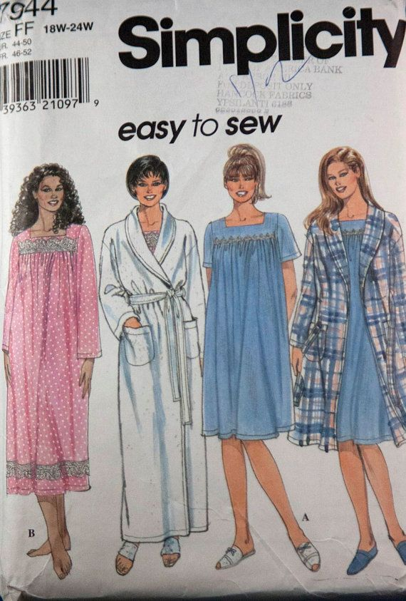 Simplicity 7944 womens nightgown and robe by RavensNestPatterns, $8.00: