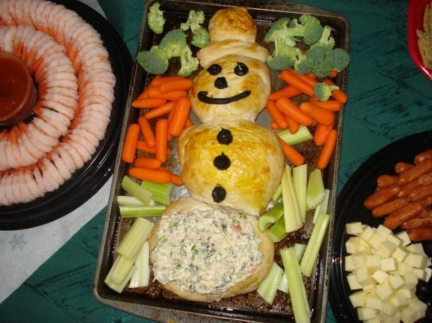 Christmas Snowman Bread for Dip. Photo by Alice Robertson Clark