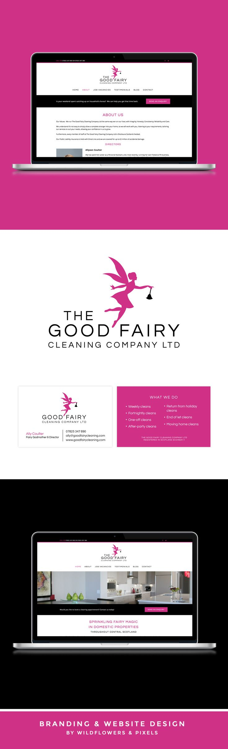 Branding & Website Design For The Good Fairy Cleaning Company ...