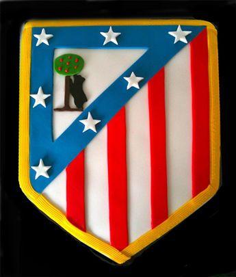 Tarta escudo atletico de Madrid Atletico de madrid cake