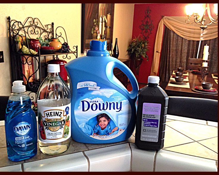 DIY Carpet cleaner for a machine. 1 gallon hot water 1/2 cup peroxide 4 Tbsp white vinegar 4 Tbsp Dawn dish soap, 1/2 cap fabric softener  (I used Downey) Stir slowly then add to machine as directed by manufacture. (I used a Bissell ProHeat Machine) Works amazing! I recommend this natural Carpet Cleaner #Spotless #CleanCarpetAlways #NaturalCleaning