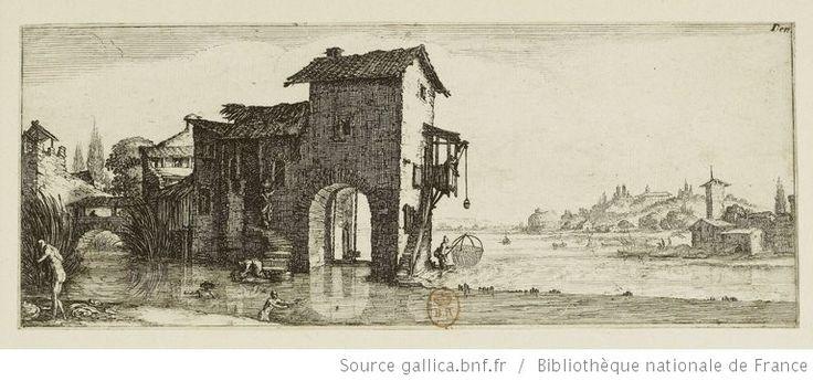 [Les quatre paysages]. [3], [Le moulin à eau] : [estampe] / [Jacques Callot] - 1