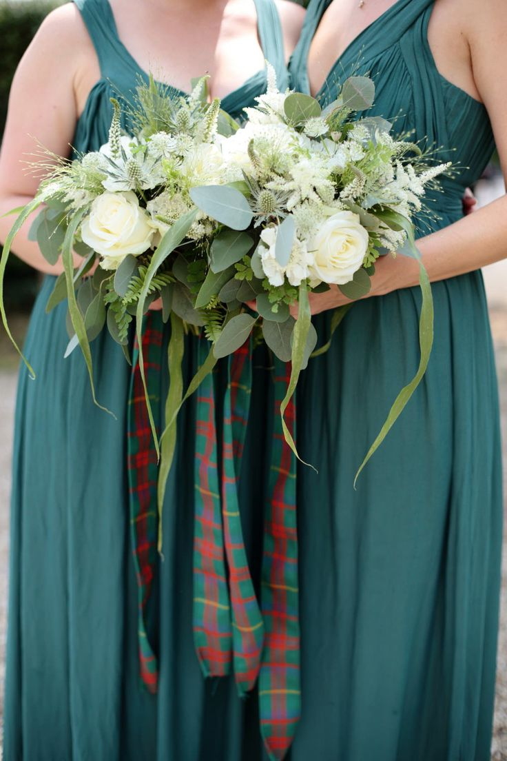 Image by Dasha Caffrey - Rustic Wedding With Tartan Accents And Bride In Elegant Gown From Go Bridal With A Sassi Holford Veil And Rachel Simpson Shoes With Groom And Groomsmen In Kilts