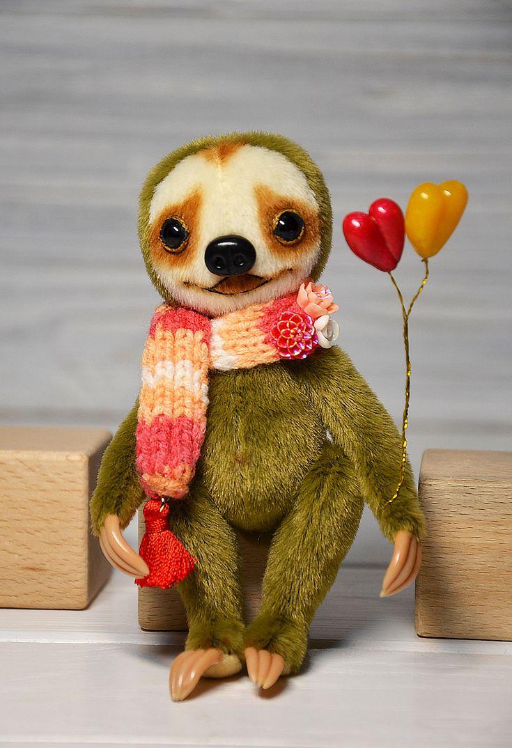 Artist doll sloth plush sloth stuffed sloth toy blythe