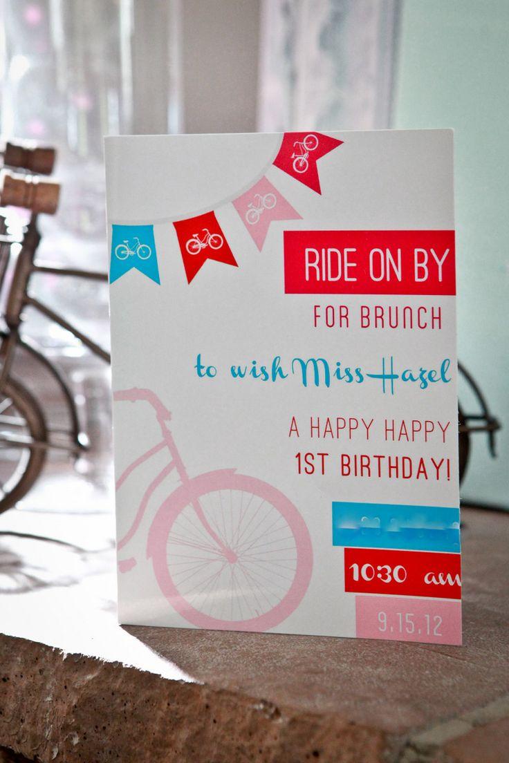 bike brunch 1st birthday party