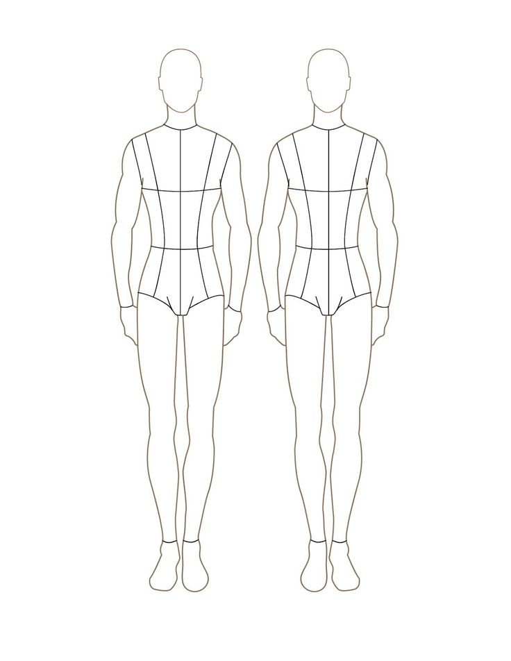 Fashion Design Mannequin Template