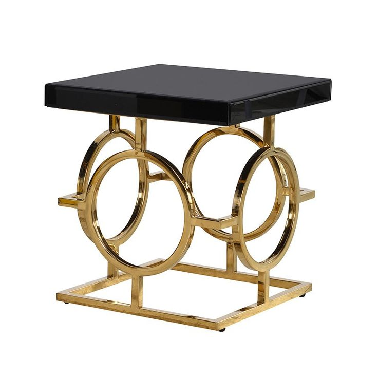 The Mackintosh Gold & Black Glass Side Table – Shropshire Design