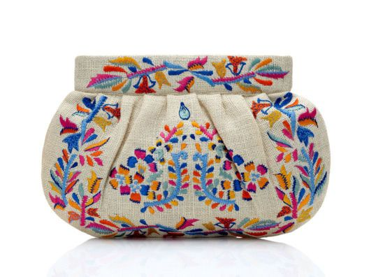 Embroidered Clutch by Moyna