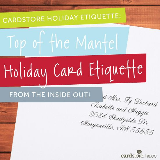 The Gracious Girl shares her favorite holiday card etiquette tips: how to address the envelope, how to write a holiday letter, and more!