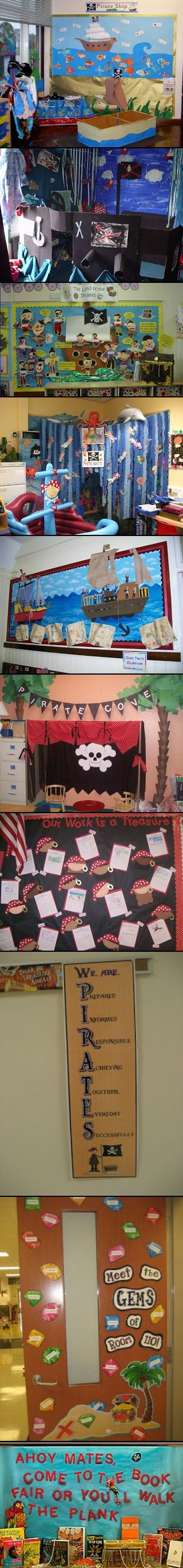PIRATE THEME for you classroom.  Choose from a LONG list of themes from this site and start decorating before the new school year starts.