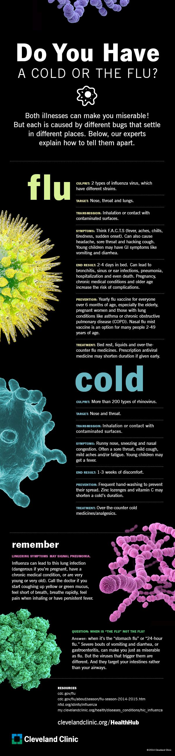 Do you have a #cold or the #flu? Use this guide to help you decide. #infographic