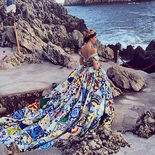 Inside Dolce & Gabbana's Alta Moda Show In Capri. WARNING: This Is So Glam You May Faint | Grazia Fashion