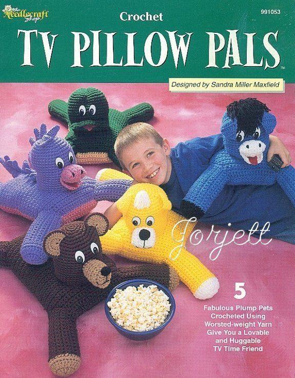 TV Pillow Pals, cuddly animal crochet patterns OOP rare in Crafts, Needlecrafts & Yarn, Crocheting & Knitting | eBay