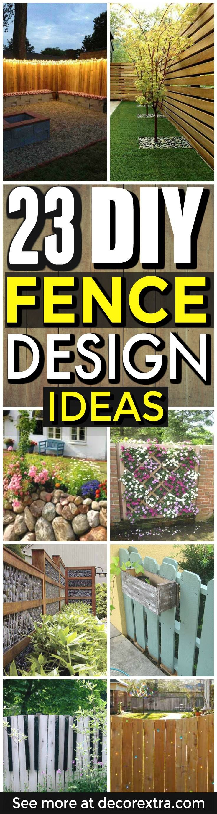 DIY Fence Ideas, Cheap fence ideas - DIY Backyard fence, Outdoor fence designs - DIY Projects