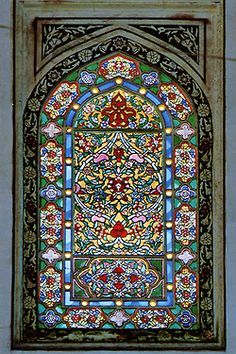 islamic stained glass designs -