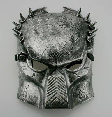 Predator mask in burnished silver £9.99