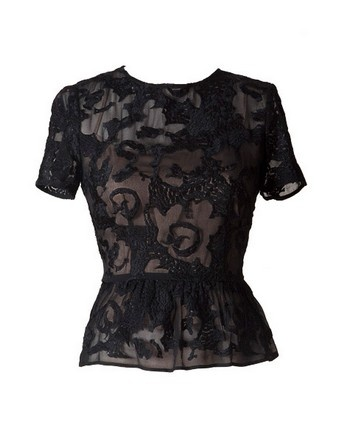yb j'aime embroidered georgette anais blouse