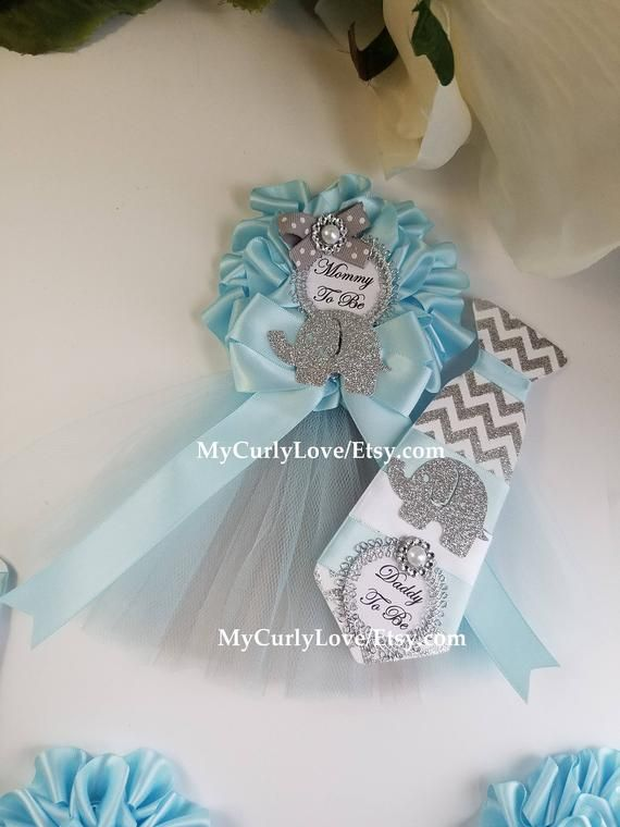 Elephant Baby Shower Pins Elephant Baby Shower Mommy Belly Sash Mint And Gray Baby Shower Pin Baby Shower Corsage Baby Shower Pin Girl Baby Shower Decorations
