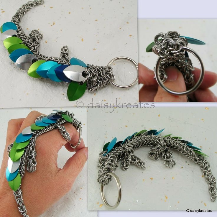 daisykreates: Pet Dragon Key Chain with Blue and Green Scales