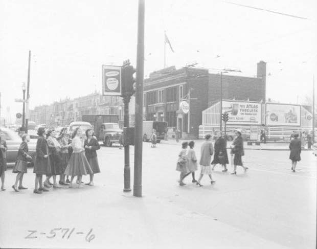 corner Saint Denis and Beaubien - Montreal Circa 1950