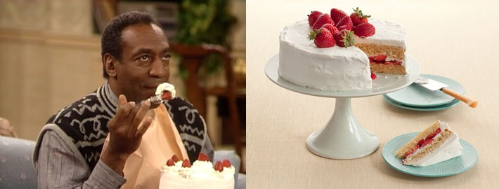 Strawberry Shortcake Cake @ilovetvland #cosbyfoodchallenge  The Cosby Show is coming to TV Land September 10 at 8PM/7C. Go to http://www.tvland.com/channel-finder-page/ to find us in your area!