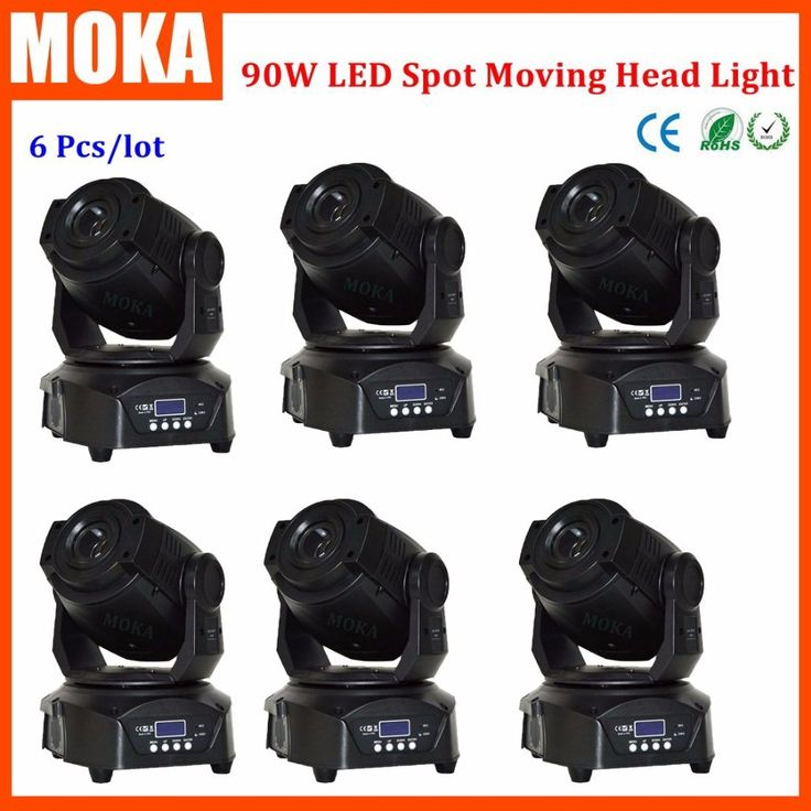 1535.00$  Buy here - http://ali1zv.worldwells.pw/go.php?t=32691185224 - 6 Pcs/lot new led beam moving head led spot 90w DMX led mini moving head zoom gobo light Indoor Club Party Show DJ KTV 1535.00$