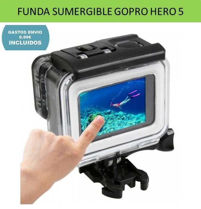 Para GOPRO Hero 5 Hero 5 Impermeable Submarinismo Carcasa Subacuática
