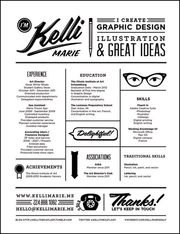 13 best resume AD images on Pinterest Creative resume - the best font for resume