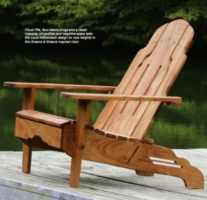 Adirondack Chair Plans Greene & Green inspired adirondack chair -- DIY plans including drawings to scal...