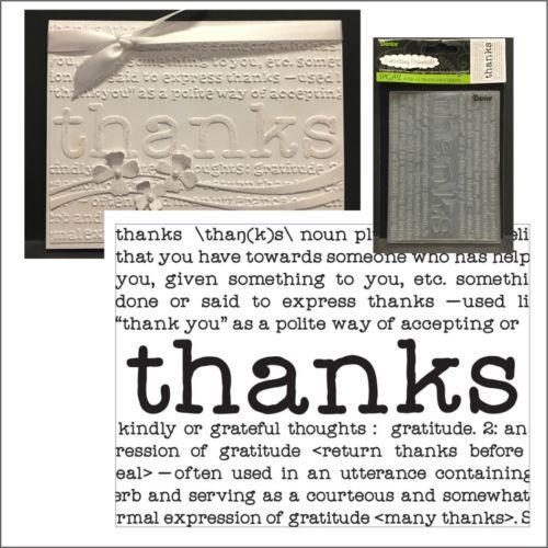THANKS DEFINE embossing folder - Darice embossing folders 8374 words,phrases | eBay
