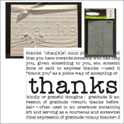 THANKS DEFINE embossing folder - Darice embossing folders 8374 words,phrases | eBay