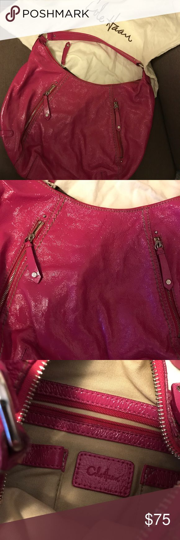 Cole Haan - lipstick pink - leather hobo bag Cole Haan - lipstick pink - leather - hobo bag - gently used purse - beautiful leather - fuchsia hot pink color - Barbie pink - perfect for Spring - MAKE AN OFFER! Cole Haan Bags Hobos