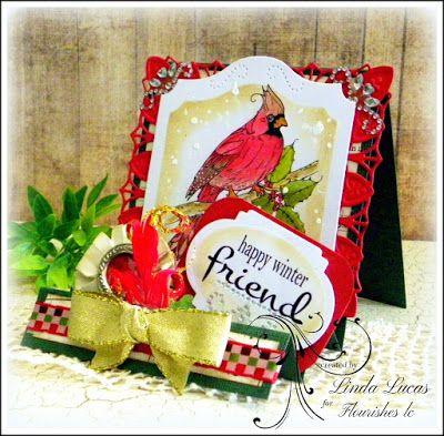 Lovely Linda's Craft Central!!: Flourishes LC Winter Birds @flourisheslccom  #stamping @chameleonpens  @SBAdhesivesby3L  @imaginecrafts  @Want2Scrap Company @spellbinders  #teamspellbinders #lovelylinda #lindalucas #cardmaking #DIY #handmade #paperart #lindadt #winterbirds #beverlycole #floral #bling #birds #cardiinal