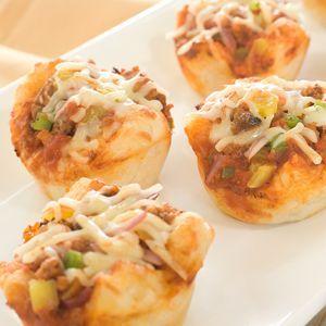 Bob Evans - Recipe - Muffin Pan Pizzas