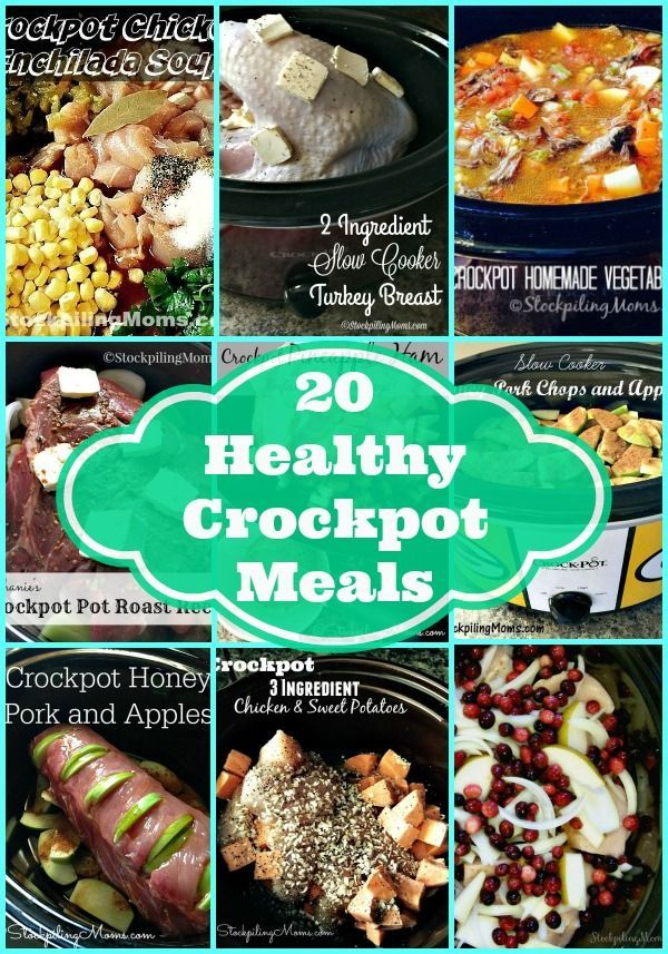 20 Healthy Crockpot Meals that are perfect to start the New Year with healthy recipes for the family!