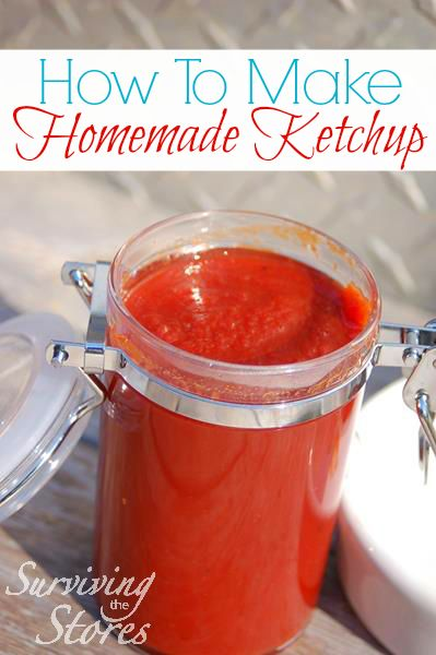 Three different ways to make homemade ketchup!  You can cook it all day in the crock-pot OR you can make it quickly in your blender.  Why buy ketchup at the store when it is so easy to make yourself?