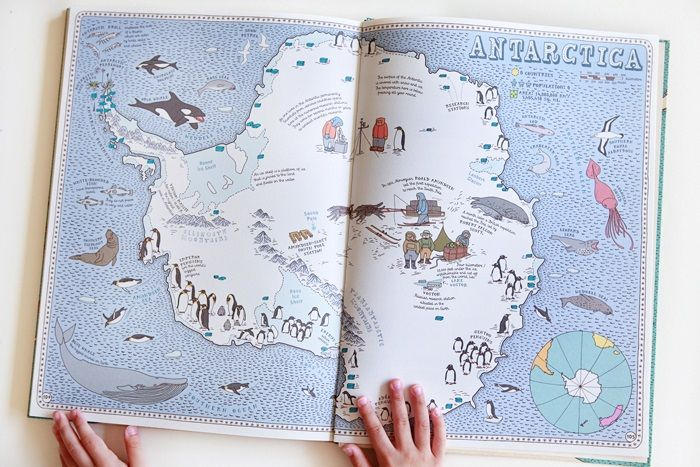 Maps is anything but ordinary and is not your typical geography lesson. It features 52 different maps of the world and includes so many thoughtful details: interesting geographic elements, monuments, native animals, natural resources, national gastronomy, aspects of culture and much more. This book is a great introduction to world geography and a wonderful way to engage children with the world around them.