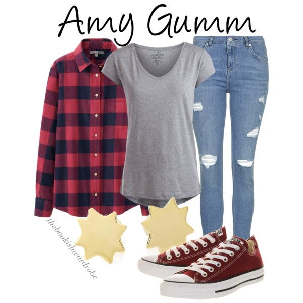 Amy Gumm from Dorothy Must Die by the-bookish-wardrobe on Polyvore featuring Uniqlo, Pieces, Topshop and Converse
