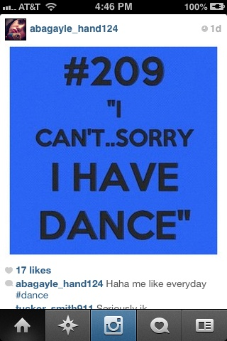 When you decide dance is more than a recreational sport.....This will be your excuse to everything.