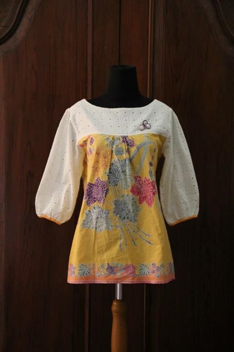 White and Yellow by Nona Rara Batik