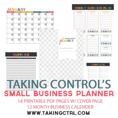 FREE Small Business Planner, Organize Your Small Business Finances - Yellow Umbrella